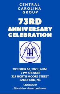 Central Carolina Group 73rd Anniversary @ 319 North Moore Street | Sanford | North Carolina | United States